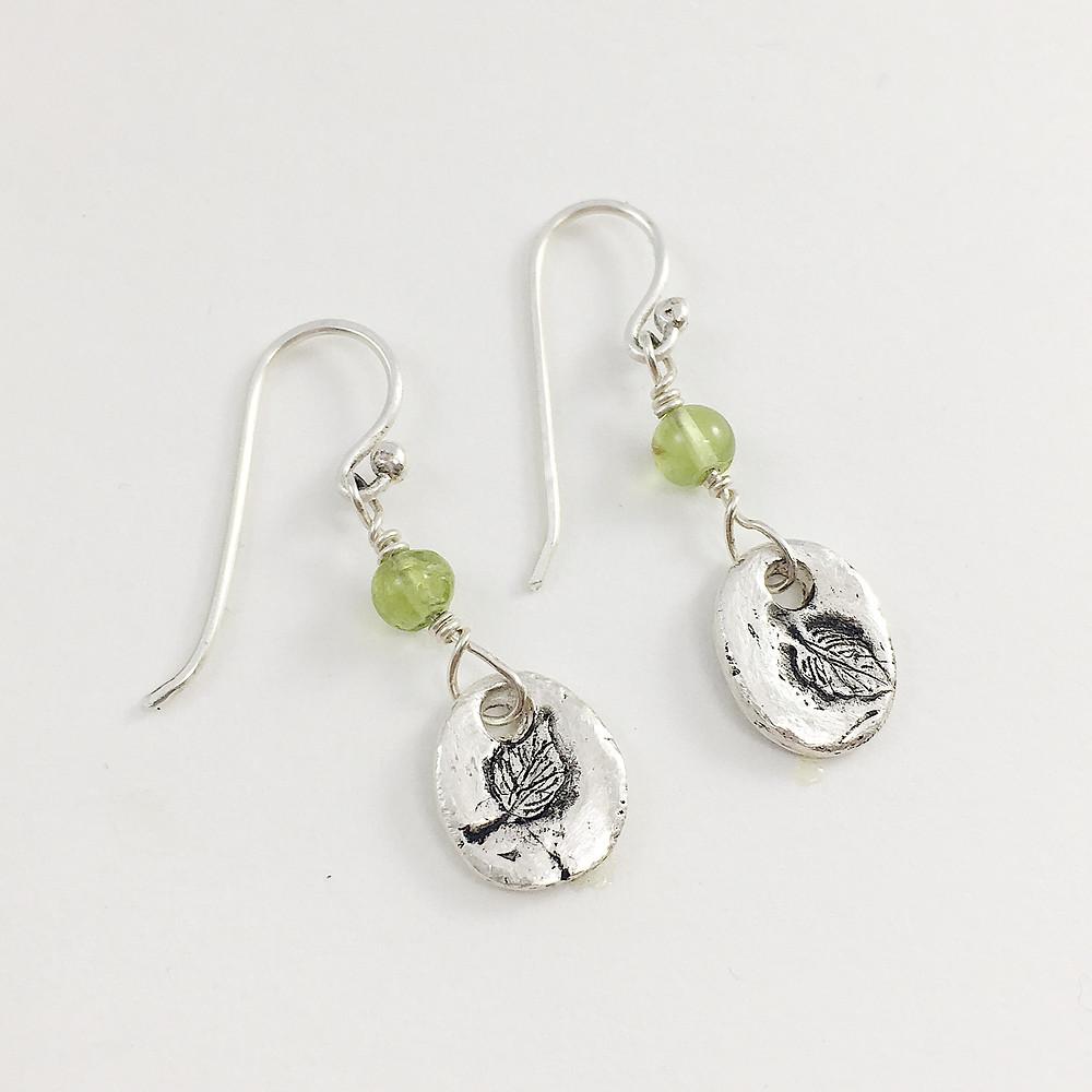 PMC silver earrings