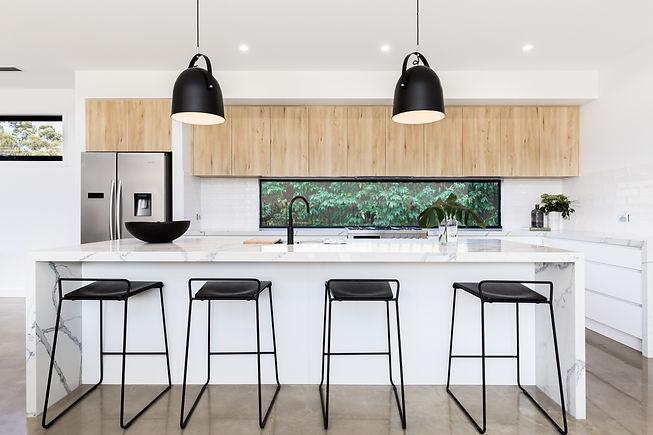 Large luxury Australian kitchen with mar