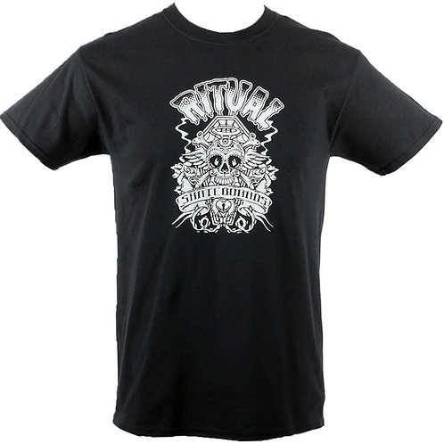 Ritual Skull & Bones T-Shirt (White on Black)