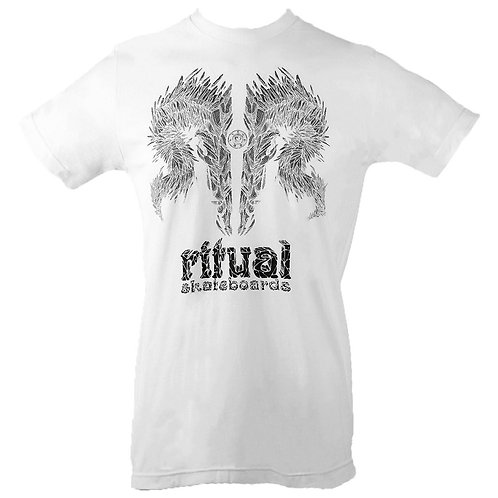 Shard Skull T-Shirt (White) (FF)