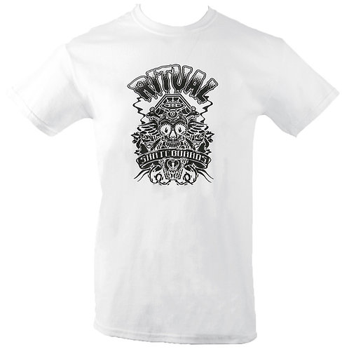 Ritual Skull & Bones T-Shirt (Black on White)