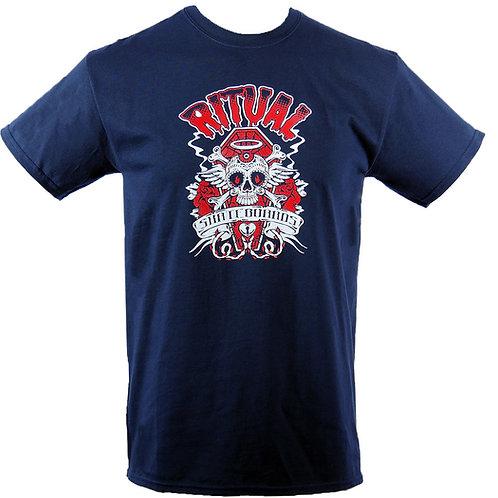 Ritual Skull & Bones T-Shirt (Navy Blue)