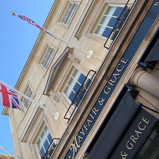 Blue skys over Mayfair & Grace