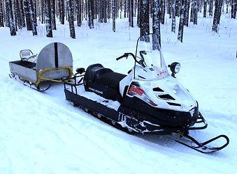 Покатушки на снегоходе и в санях