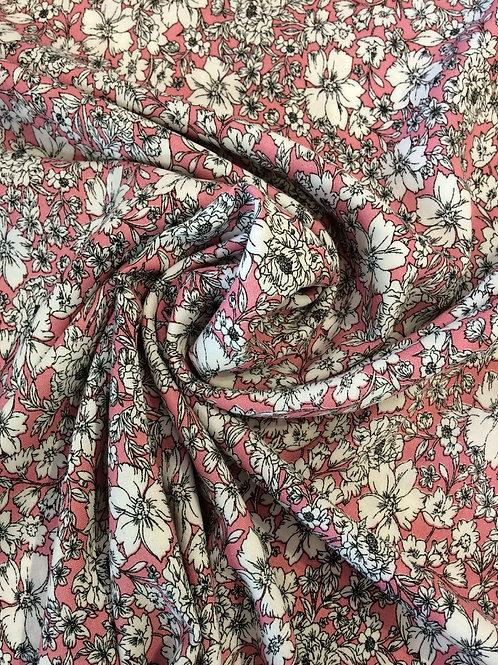 Viscose Floral Print PINK