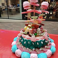 6. Gâteau rose et bleu 2 étages + brochettes
