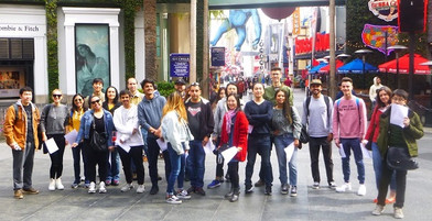 Language School in Los Angeles class field trip in Hollywood