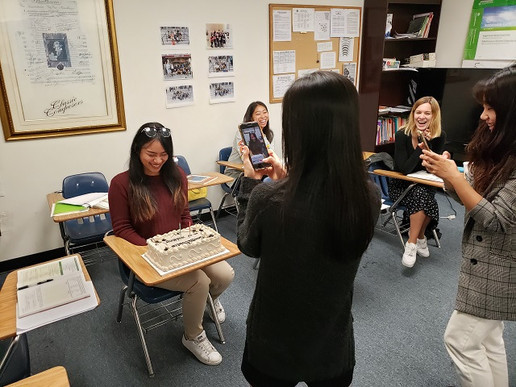 Language class in Koreatown celebration.