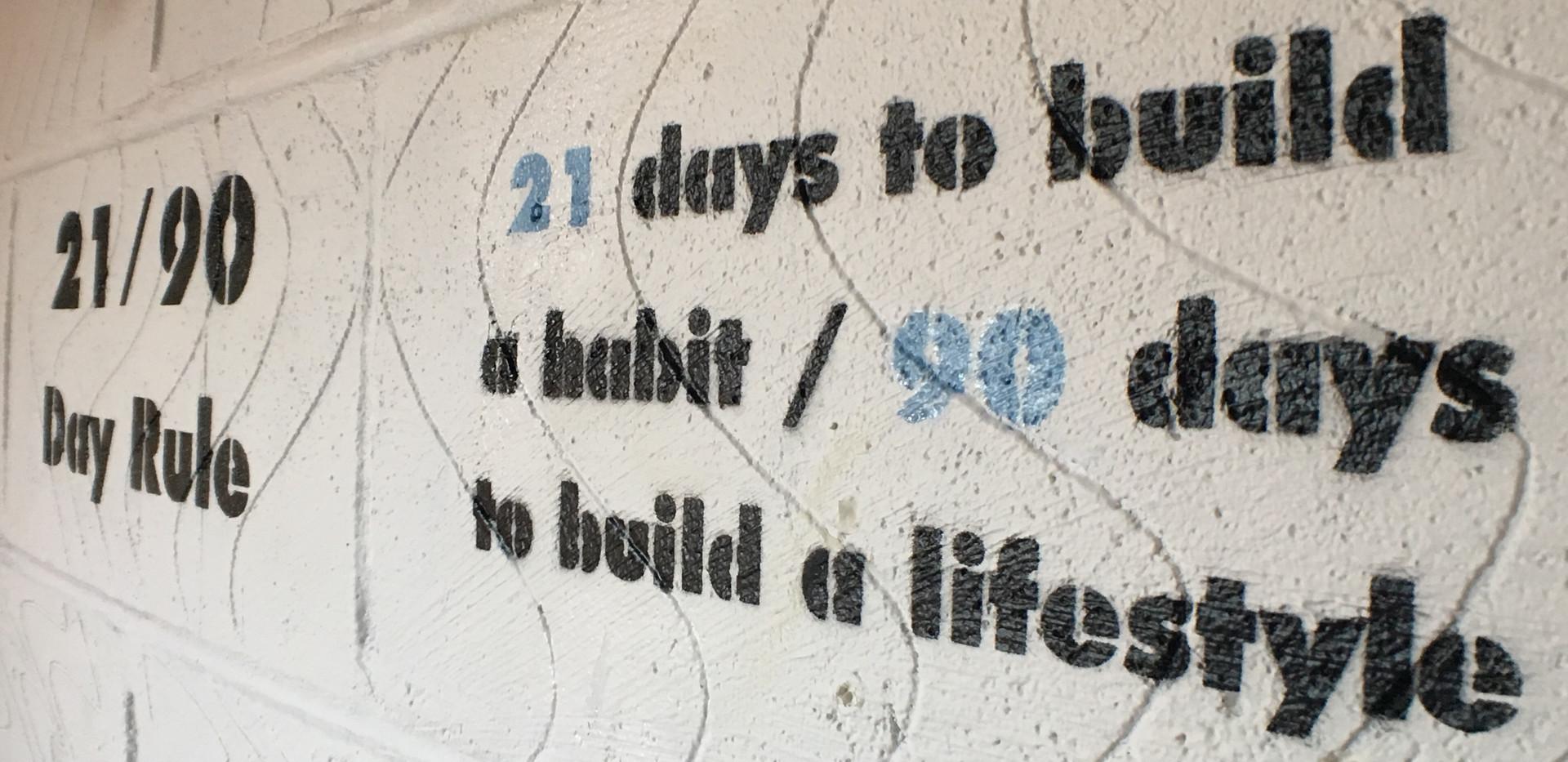 21/90 day rule...