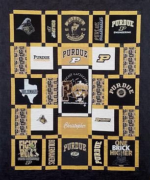 Custom Made Purdue T-Shirt Quilt