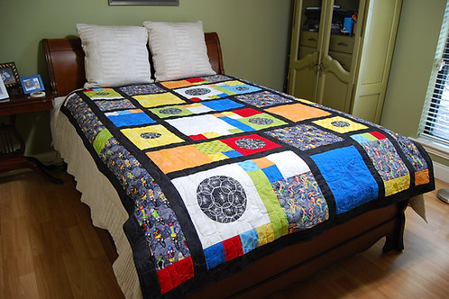 Modern Block Piet Mondrian Inspired Bicycle Quilt