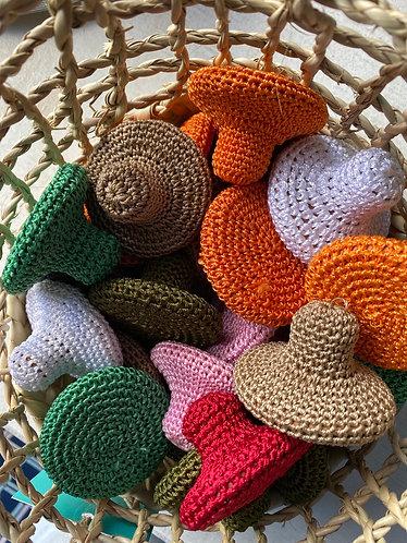Petites pierres ponce crochet couleur