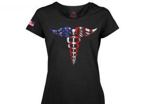 Women's Medical Symbol (Caduceus) Long Length T-Shirt 5972