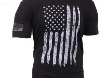 Distressed US Flag Athletic Fit T-Shirt 2901