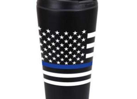 Thin Blue Line Flag Travel Mug 1299