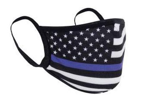 Thin Blue Line Flag Face Mask