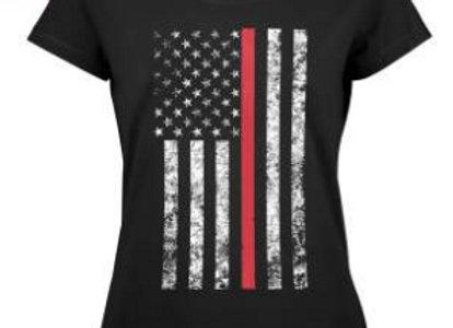 Womens Thin Red Line Longer T-Shirt 5698