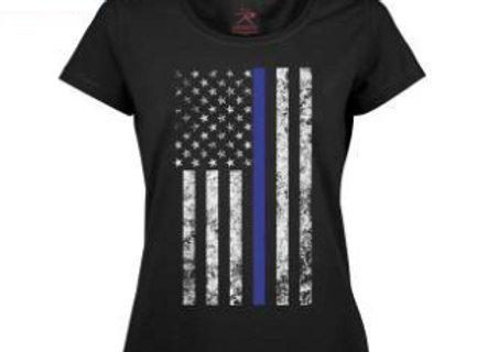 Women's Thin Blue Line Longer T-Shirt 5688