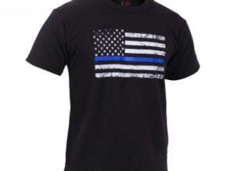 Kids Thin Blue Line US Flag T-Shirt 6896