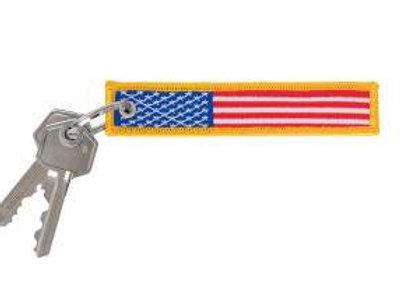 US Flag Patch Keychain 1256