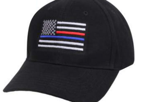 Thin Blue/Red Line Flag Low Profile Cap