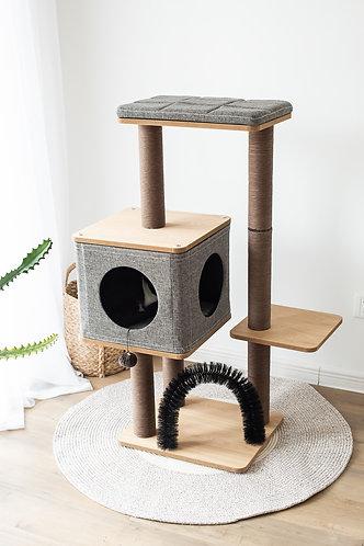 "PetPals Three-level elevated- Cat Tree condo 18""X15""X42"""