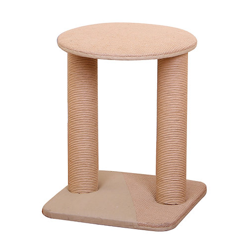 PetPals Throne - Jute Double Post Scratcher Cat Tree17X17X19""