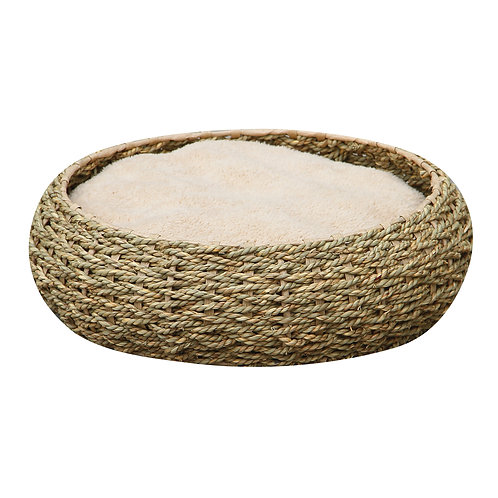 "PetPals Seagrass bed - seagrass Pet Bed 16.5""X16.5""X5"""