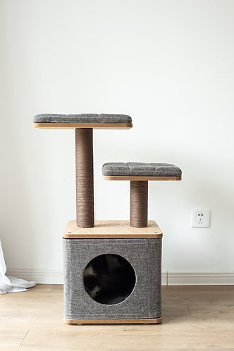 """PetPals Two-level scale particle board Cat Tree condo 15""""X15""""X31"""""""