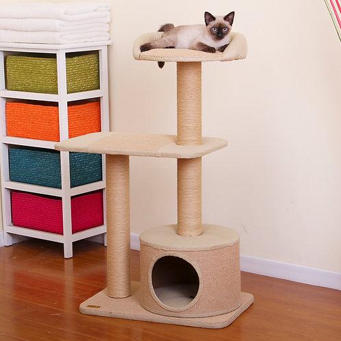 "PetPals Piller - Jute Three Level Cat Tree with Condo 21X14X38"""