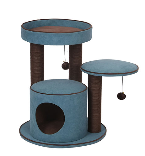 "PetPals Meadows -  Chenille Two Level Cat Tree  21""X21""X22"""