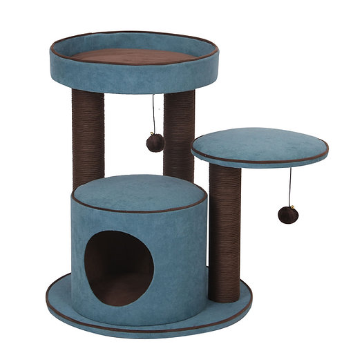 """PetPals Meadows -  Chenille Two Level Cat Tree  21""""X21""""X22"""""""