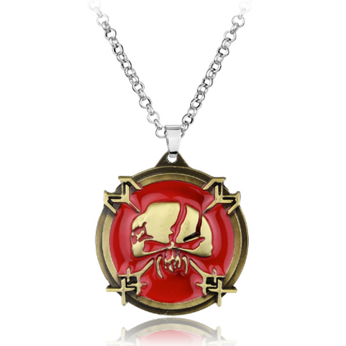 IRON MAIDEN NECKLACE - RED HOT