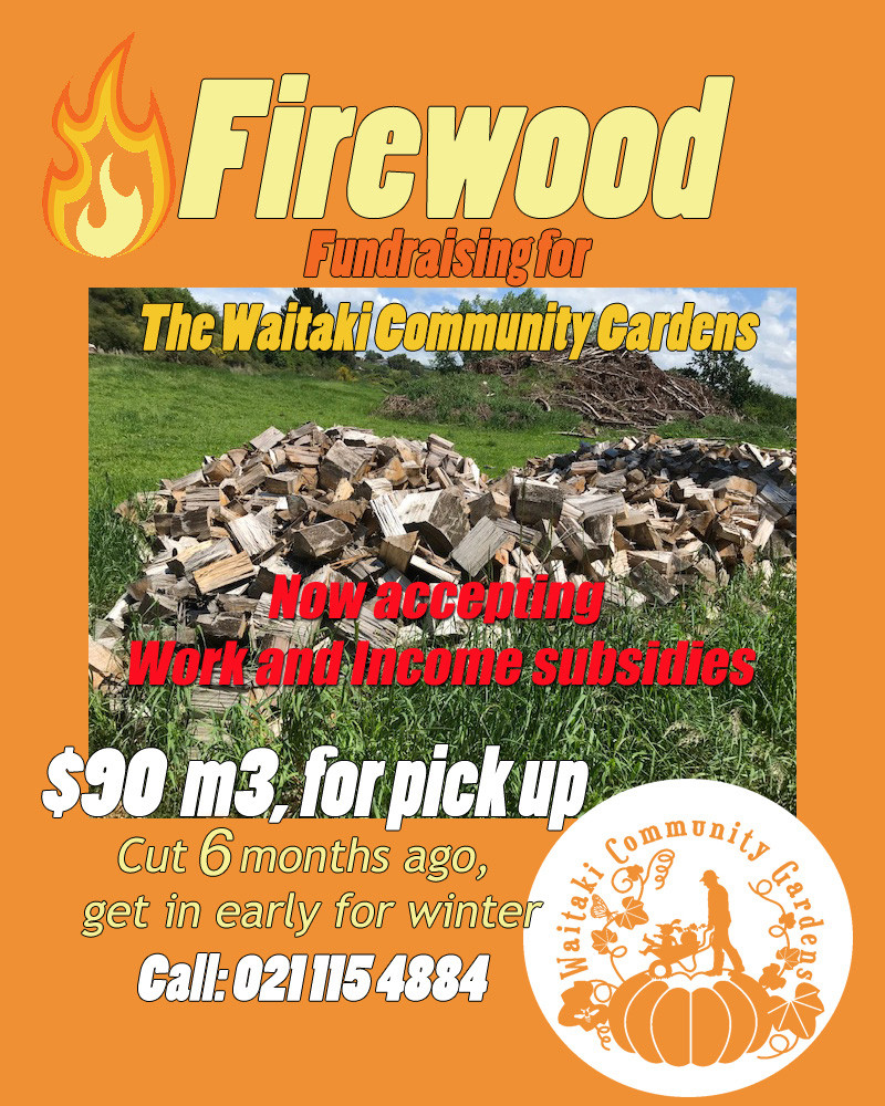 It's taken a while, but we are now able to provide firewood for those that get the Work & Income subsidy. We have instructions that the clients are meant to bring their own forms. This is new for us, so please get in touch and we'll try to work through it.  We have a limited supply. This was cut in October. You need to bring your own trailer, although if you are just working with the boot of a car we can work with that ;o)