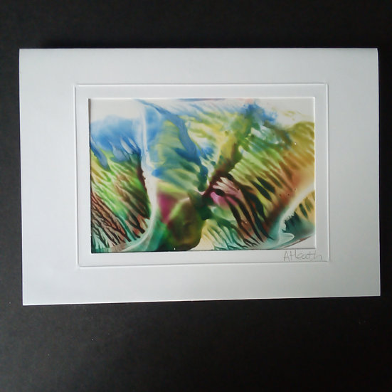 Encaustic Art Greeting Card