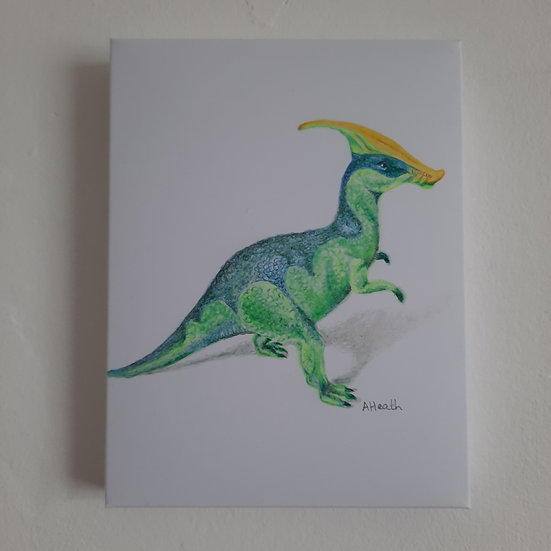 Drawing of dinosaur toy