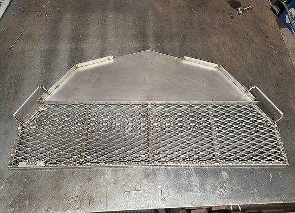 "44"" Stainless Steel Half Decagon Grate / Skillet"