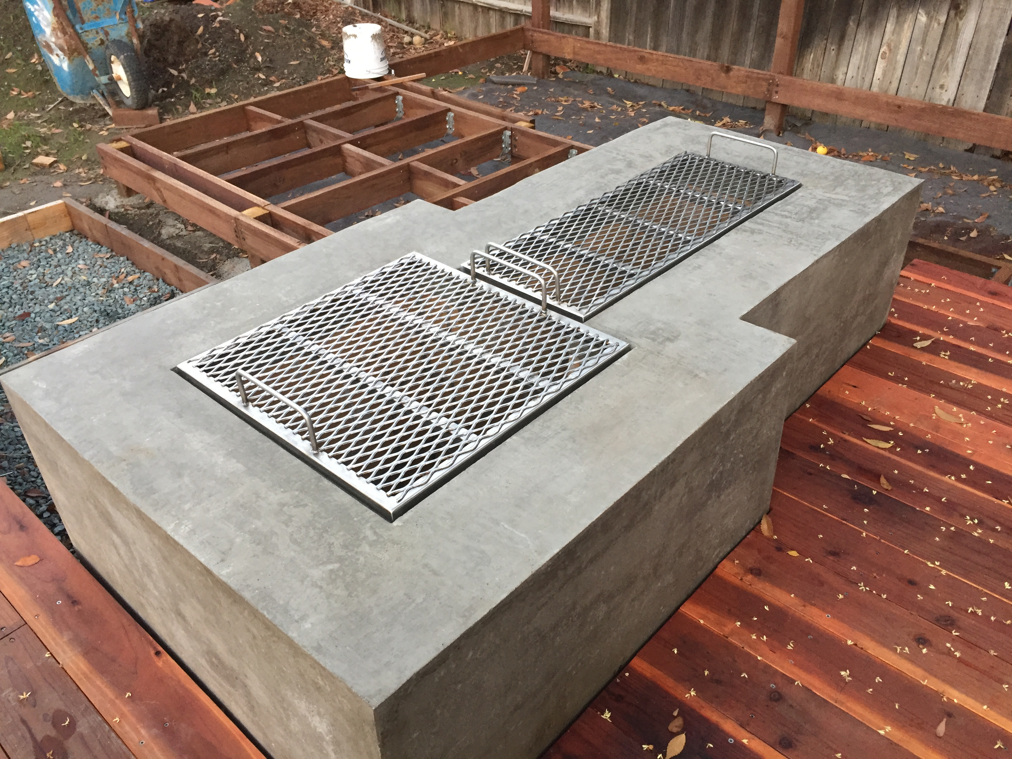 Two Custom Grates w/ handle