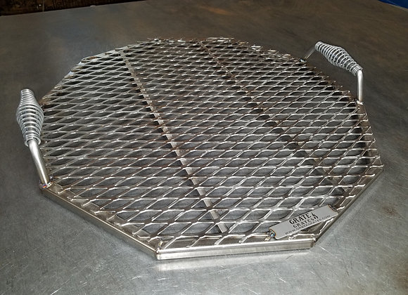 "25"" Diameter Stainless Steel Decagon Grate"
