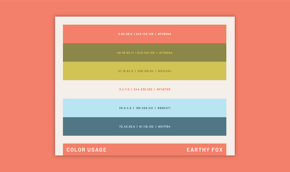 Earthy Fox Brand Guidelines Color Usage