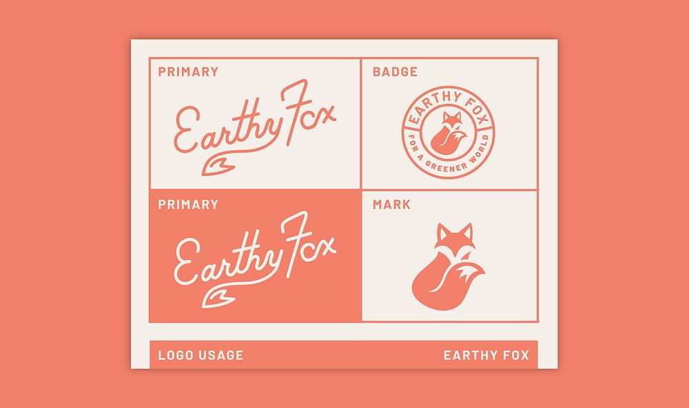 Earthy Fox Brand Guidelines Logo Usage