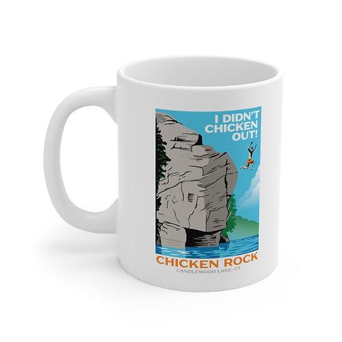 Chicken Rock Vintage Poster Design Ceramic Mug 11oz