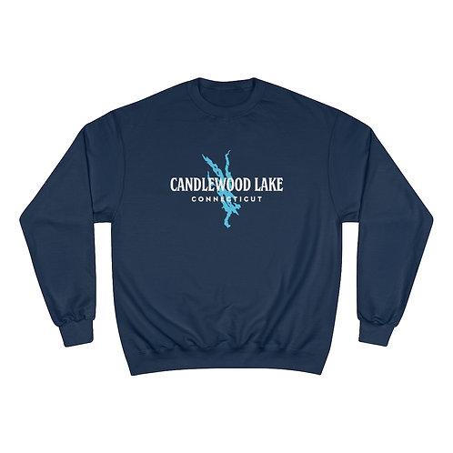 Vintage Text w/Lake Shape on crewneck Champion Sweatshirt