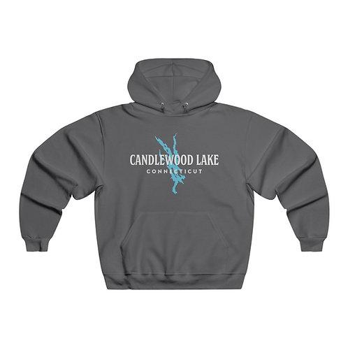 Vintage Text w/Lake Shape Hooded Sweatshirt