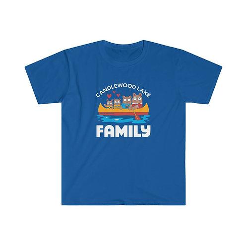 Candlewood Lake family on Unisex Soft Style T