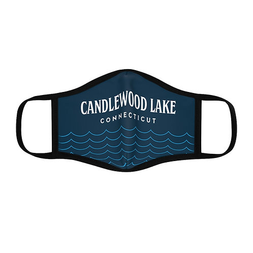 Candlewood Lake with Waves Fitted Polyester Face Mask