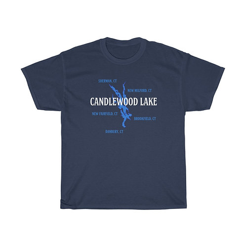 Candlewood Lake Towns on Unisex T