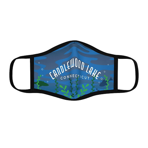 Candlewood Lake Underwater Fitted Polyester Face Mask