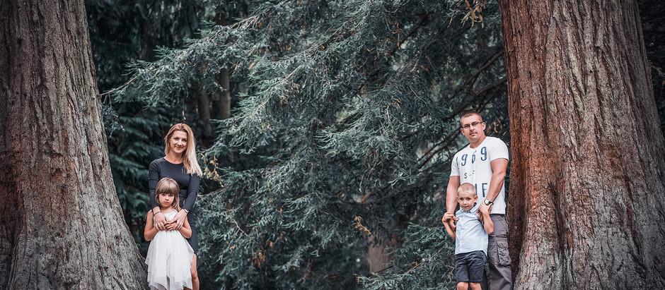 Sesja rodzinna Lidia, Rafał, Vannesa i Oliwier.