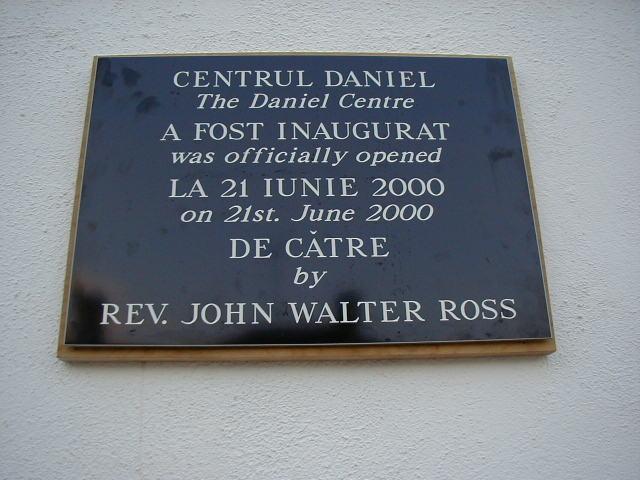 Daniel Centre Opening Plaque